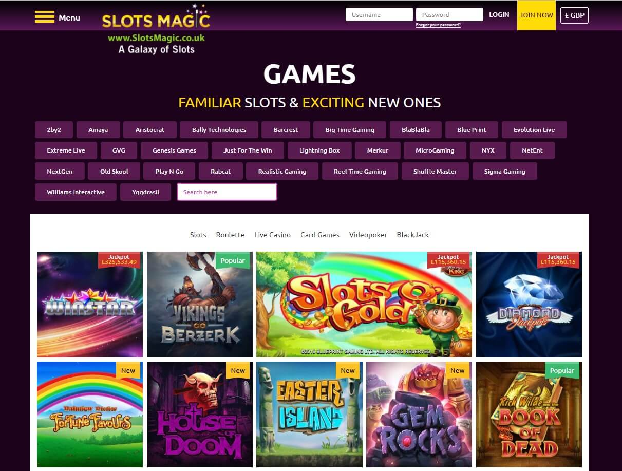 slots magic games and slots screen shot