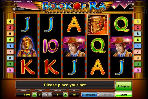 play online casino slots books of ra